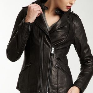 Mackage // Brown Lambskin Moto Jacket